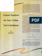 General Equations for Gear Cutting Machines