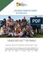 Tirage des 8e de finale de la coupe de Bourgogne-Franche-Comté
