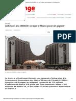 Analys Des Risques Et Profits de l'Intégration Du Point de Vue Des Économistes Senegalaise