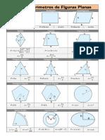 Áreas,Perímetros y Volúmenes Fórmulas