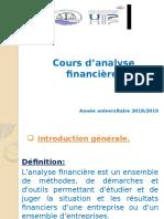 Cours d'Analyse Financière.
