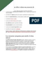 Indicadores que debe evaluar una encuesta de clima laboral.docx