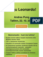 Andres Pung ettekanne, Leonardo programmi 15. aastapäev