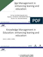 La Gestión Del Conocimiento en La Educación