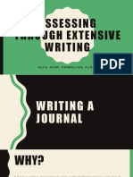 Assessing Through Extensive Writing