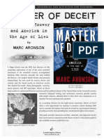 Master of Deceit by Marc Aronson Teachers' Guide