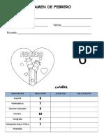 Examen 6to Grado - Febrero.doc