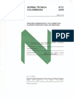 NTC 2209 Algodon Purificado Uso Medicinal