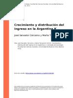 Jose Salvador Carcamo y Marta Tenewicki (2013). Crecimiento y distribucion del ingreso en la Argentina K.pdf