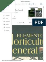 Elementos de Horticultura General