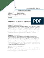 Programa Analit. Máquinas Eléctricas - 2018