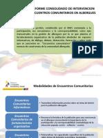 PPT Informe Consolidado Encuentros Comunitarios
