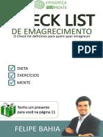 Checklist de Emagrecimento
