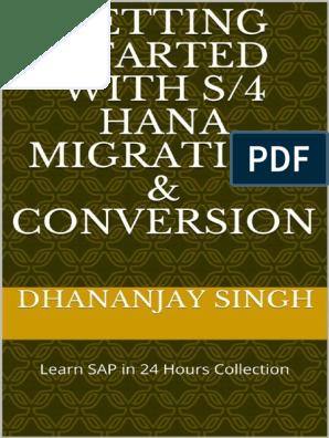 Getting Started with S_4 HANA M - Dhananjay Singh pdf | Sap