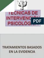 Técnicas de Intervención Psicológicas