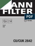 Filtro Amarok 2.0 Habitaculo