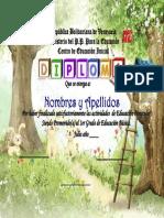 Diploma Con Conejitos [UtilPractico.com]