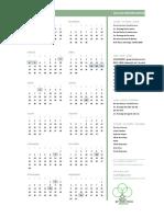 calendário 2019 IPAliança