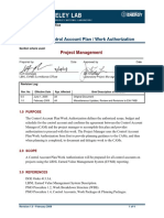 PMO-1.5 Control Accout Plan-Work Authorization