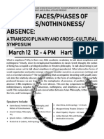 Flyer for Emptiness Symposium