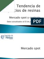 Tendencia de Precios de Resinas - 03 de Junio de 2016