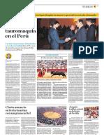 El Comercio (Lima-Peru) Lun 11 Marzo 2019 (Pag A25) Pag Taurina