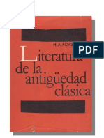 Literatura de La Antiguedad Clasica - H. a. Forster