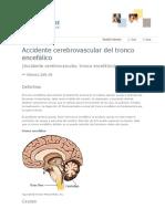 Accidente Cerebrovascular Del Tronco Encefálico ACV