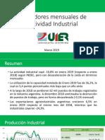 Indicadores Mensuales de Actividad Económica - Marzo 2019
