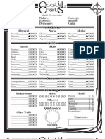 Character Sheet Euthanatos Role Playing Games Gaming