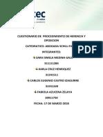Cuestionario de Procedimiento de Herencia y Oposicion