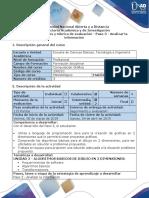 Guía de Actividades y Rúbrica de Evaluación - Paso 3 - Analizar La Información