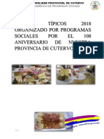 Plan de Trabajo Festival Gastronomico