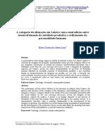 Categoria de alienação em Lukacs - Lima.pdf