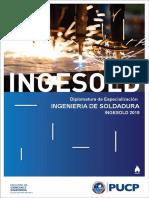Brochure Diplomatura de Especialización en Ingeniería de Soldadura 2019