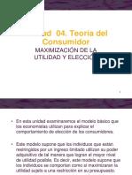 Unidad 04. Teoría Del Consumidor. Maximización de La Utilidad y Elección (1)