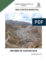 INFORM GESTION H Concejo Municipal Huanuni 2018 .pdf
