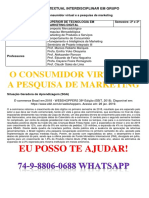Unopar 2 e 3 Sem o Consumidor Virtual e a Pesquisa de Marketing