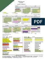 Calendário Acadêmico 2017 Dos Cursos Técnicos e Cursos Livres - Aprovado Pelo Conselho