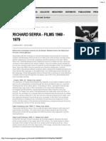 Lista Filmes Richard Serra