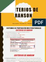 Criterios de Ranson