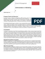 Marketing DBA Program Brochure