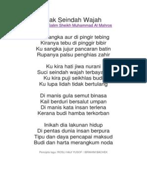 Lirik Tak Seindah Wajah Docx
