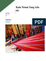 7 Macam Kain Tenun Yang Ada Di Indonesia.docx