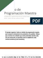 Método de Programación Maestra
