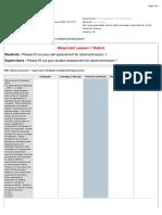 fem - observed lesson 1 - supervisors feedback   student self-assessment