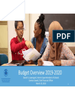 2019-20 Draft Budget Presentation