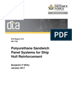 Polyurethane Sandwich Panel Systems for Ship Hull Reinforcement
