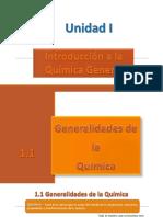 1.- Generalidades de La Química