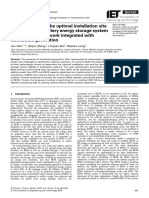 Determination of the optimal installation site and capacity of battery energy storage system in distribution network integrated with distributed generation.pdf